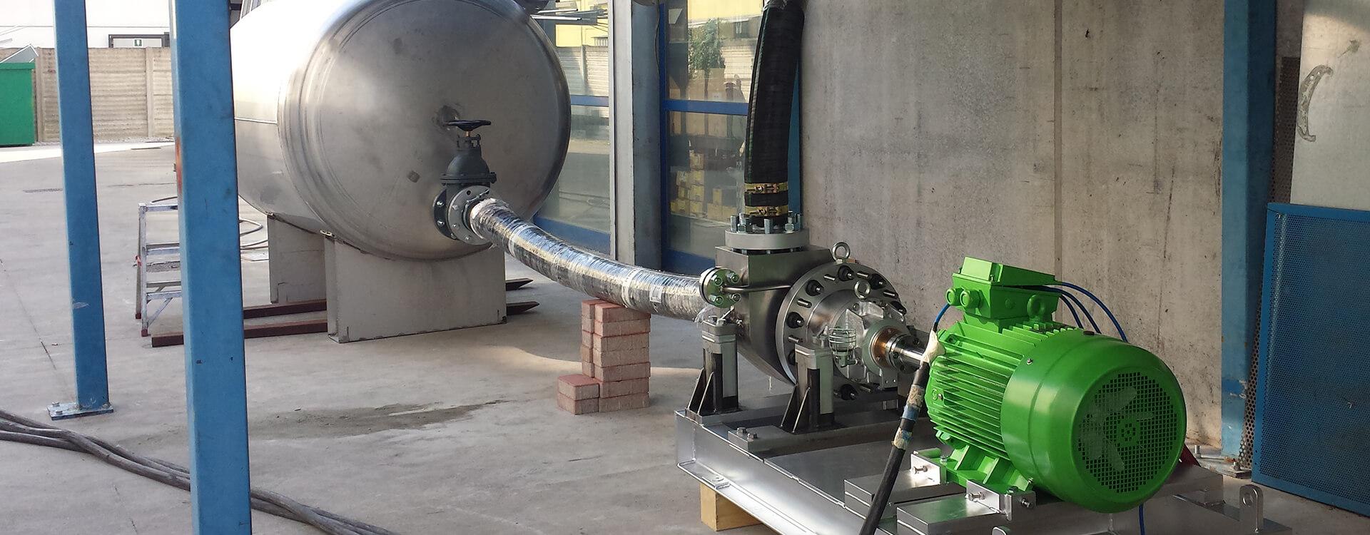 banco di prova pompa a trascinamento magnetico
